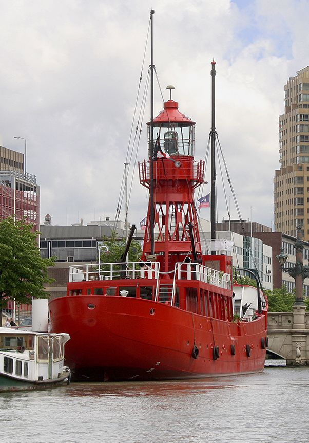 vuurtoren van Rotterdam, een lichtschip