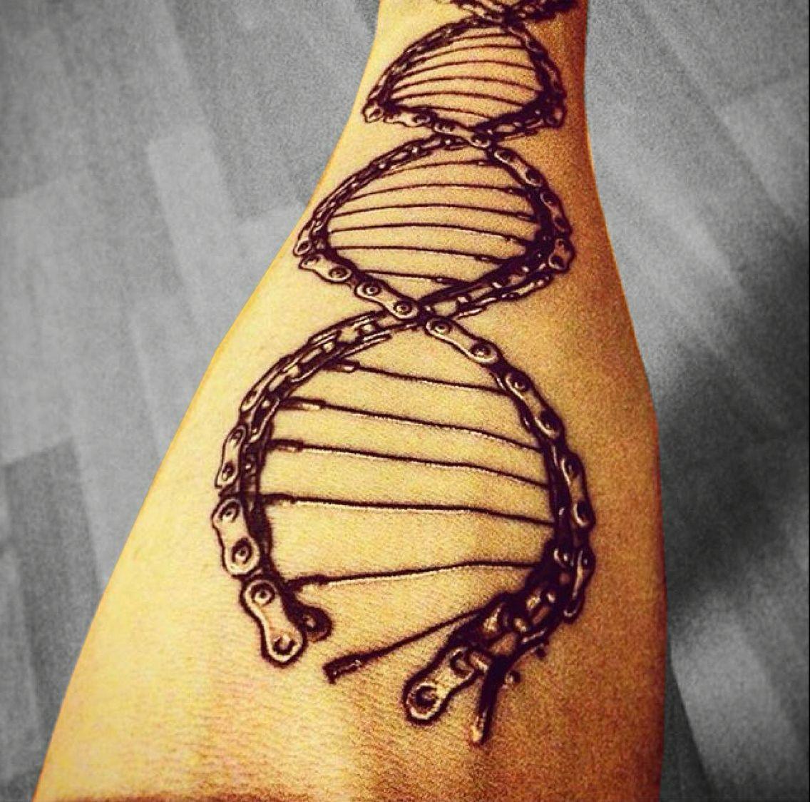 Dna Chain Helix Design Tattoos Tattoos Bike Tattoos Bicycle