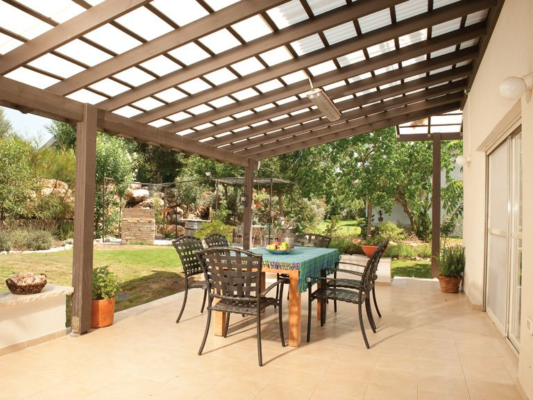 this large patio space can be used yearround thanks to a suntuf roof for maximum light use clear for more shade use white or solar gray