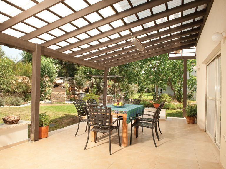 Techos para terrazas hojas de policarbonato lamina policarbonato techos pinterest - Toldos para patios interiores ...