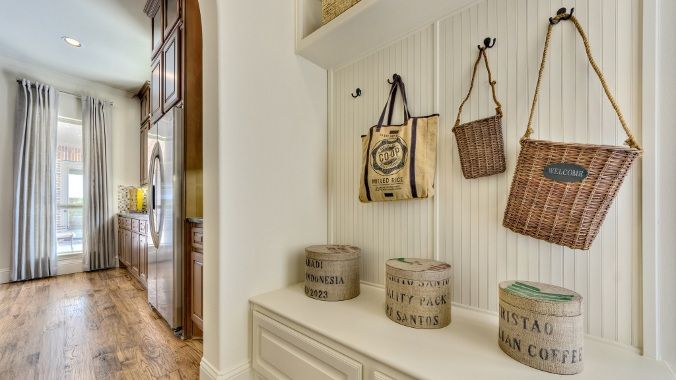 Keep The #mudroom Organized With Sophisticated #shelving And #storage.