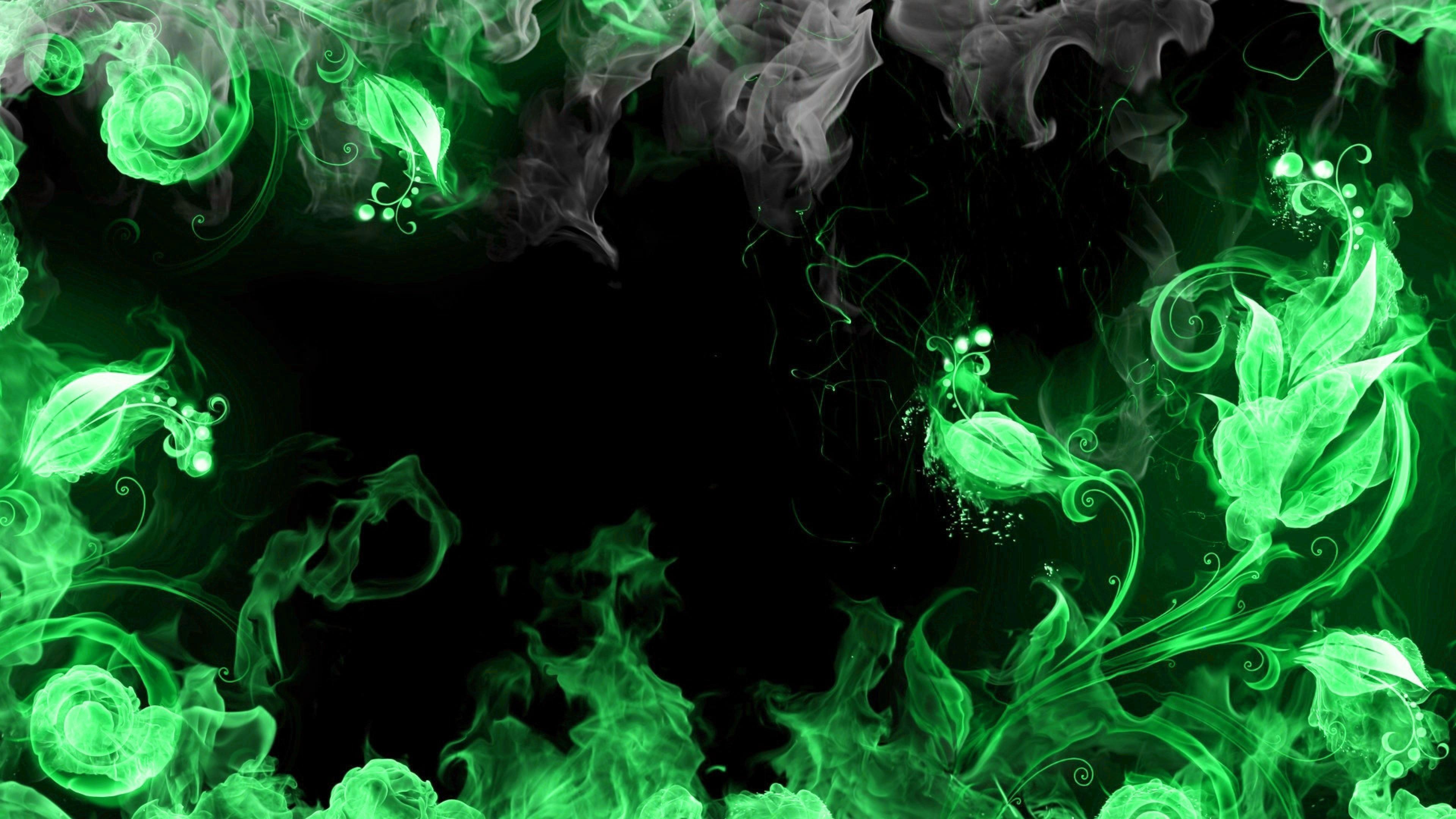 Desktophdwallpaper Org Smoke Wallpaper Fire Flower Fire Art