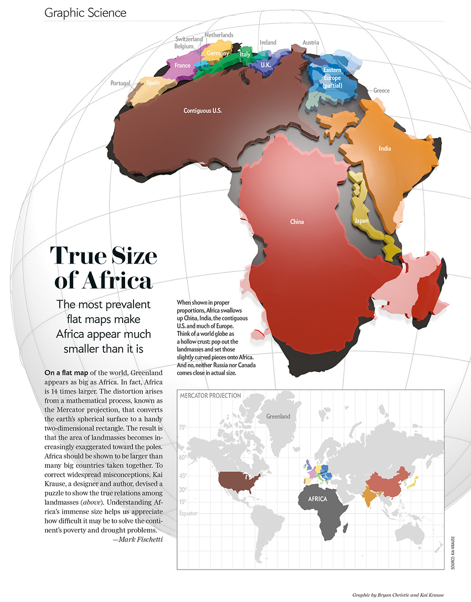 The True Size of Africa in Comparison | Interesting general
