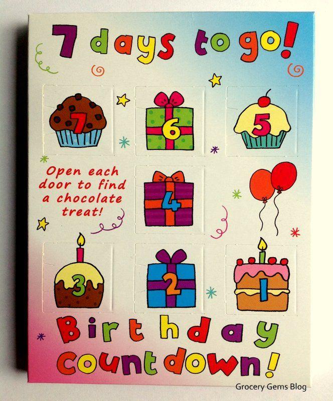 Birthday Countdown Quotes : birthday, countdown, quotes, Chocolate, Countdown, Calendars, Birthday, Countdown,, Calendar,, Chocolates
