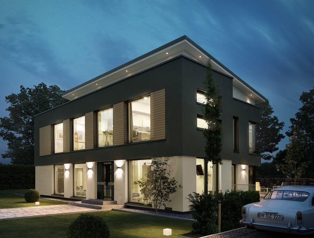 "MODERNE STADTVILLA mit Pultdach ""ConceptM 188 Wuppertal"