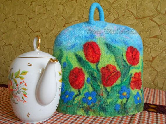 Felted Tea Cosy Wool Coffee Pot Teapot By Aurumvelleris