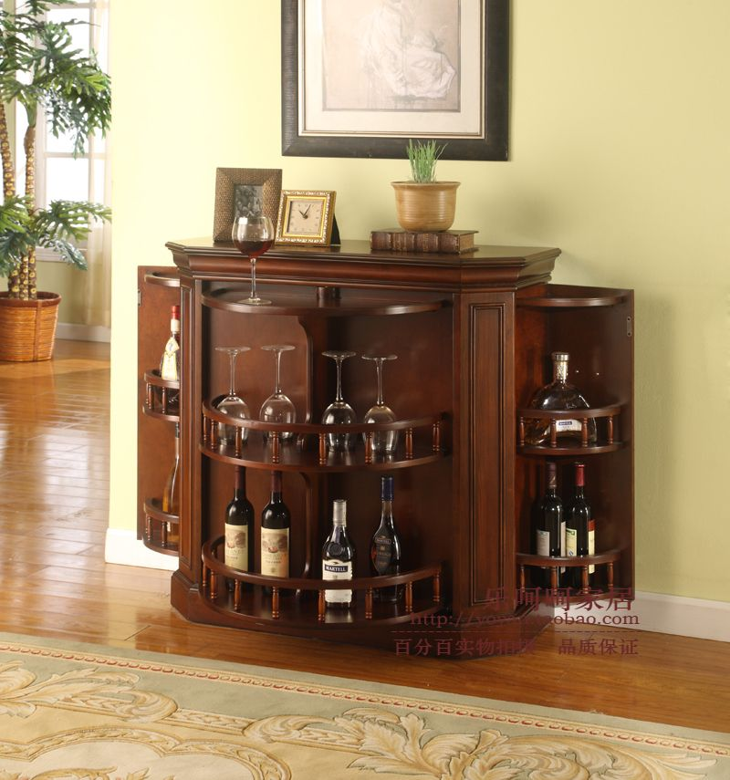 Decorations accessories european style wine bar cabinet minimalist ikea cabinets solid wood Home bar furniture ikea