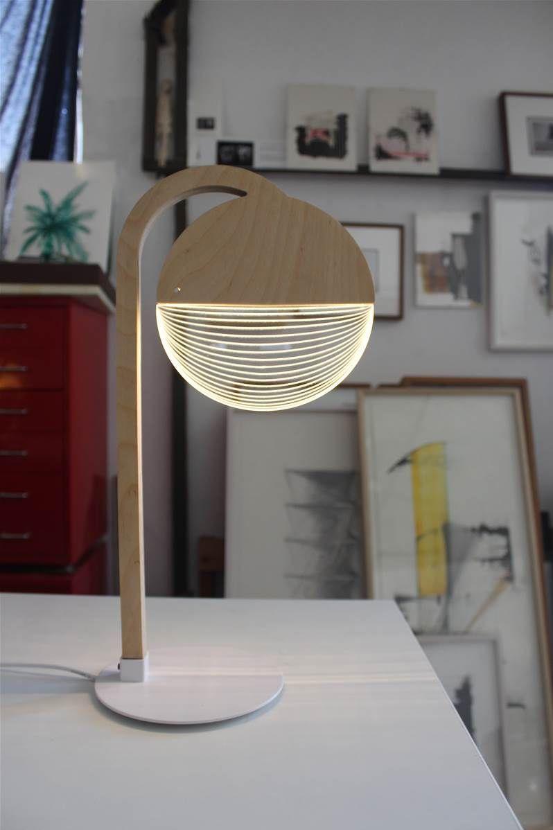 Lampe De Bureau 3d Lampada Led Decoracoes De Parede Artesanais Lustre De Madeira