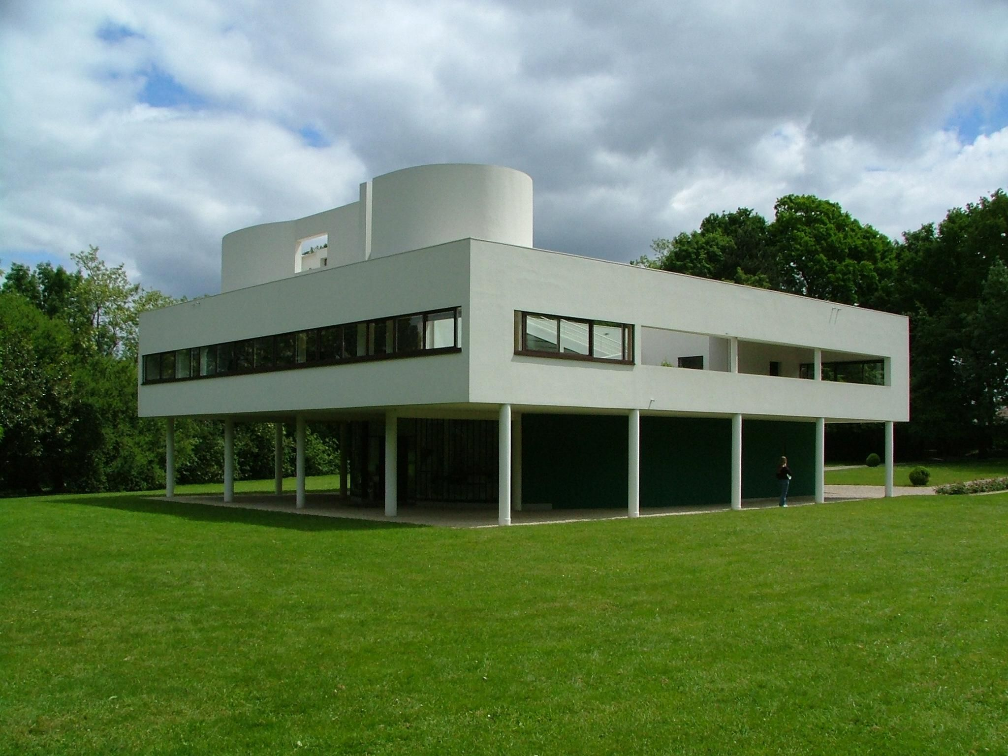 Villa savoye poissy sur seine france le corbusier for Architecture le corbusier