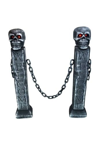 Keep all of the ghouls at bay with this Halloween Fence w/ LED