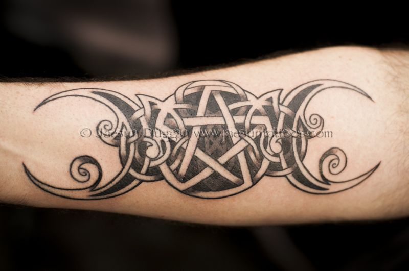 From rate my triple goddess tattoo by wiccan pictures for Witch symbols tattoos