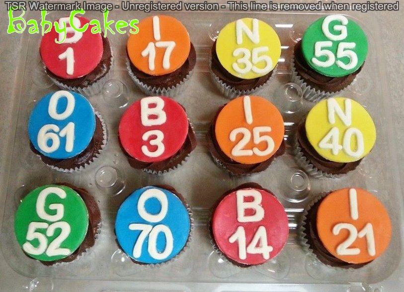Bingo Cupcakes Bingo Cake Cupcake Birthday Cake Boozy Cupcakes
