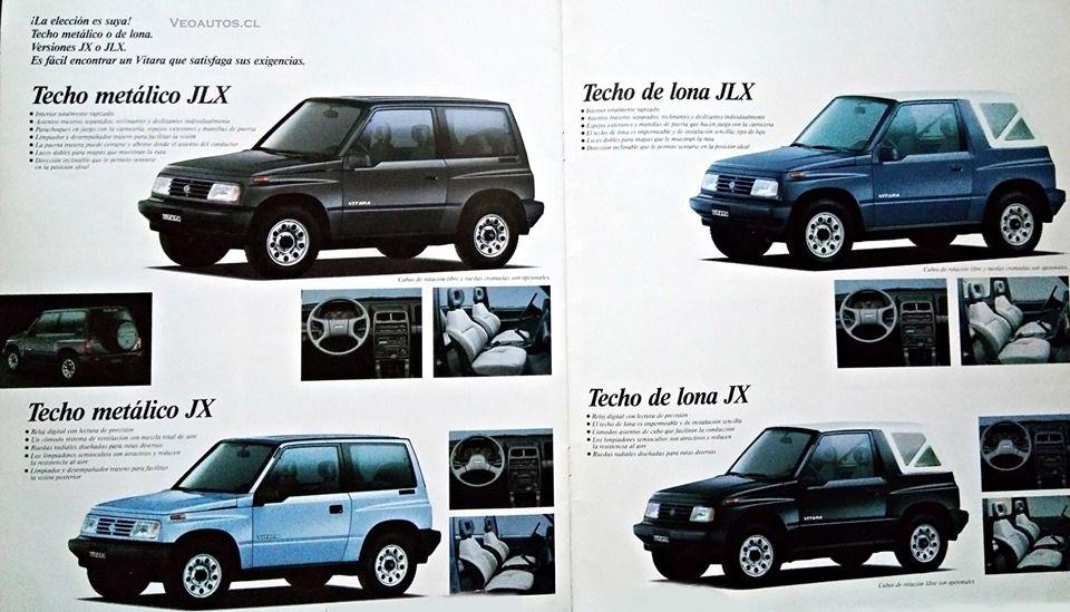 Clickpic Suzuki Vitara De 1era Generacion Catalogo Ano 1989 Todoterreno Techo De Lona Estados Unidos