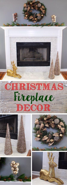 Photo of Christmas Fireplace Decor