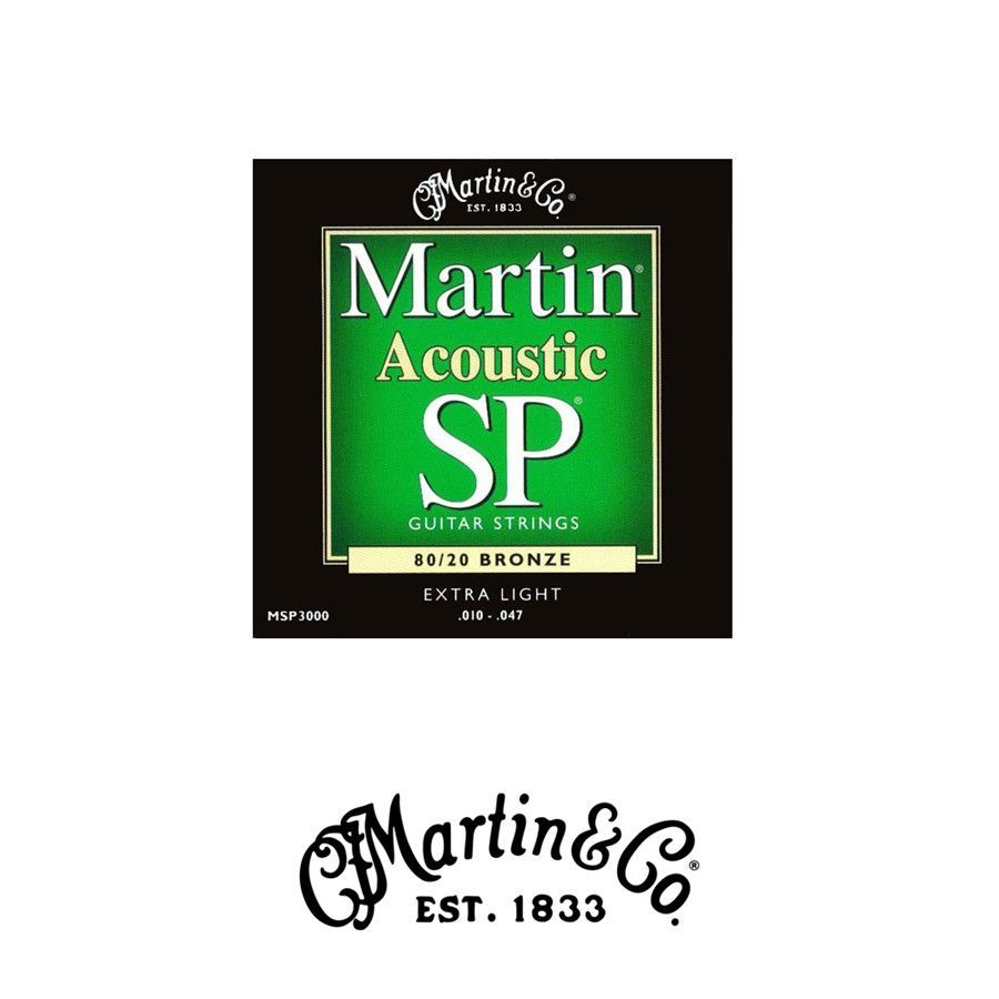 Martin MSP3000 80/20 Bronze Acoustic Strings - Extra Light