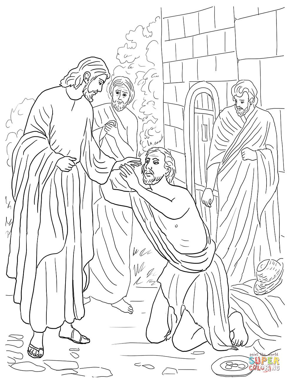 Image result for Coloring sheets for Jesus heals Peter's