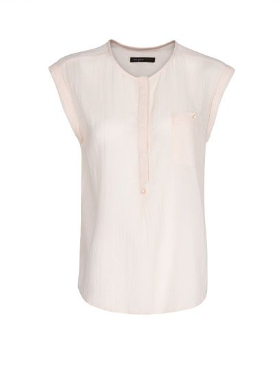 MANGO - Sleeveless fine blouse