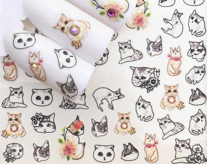 Pin On Cat Nail Art