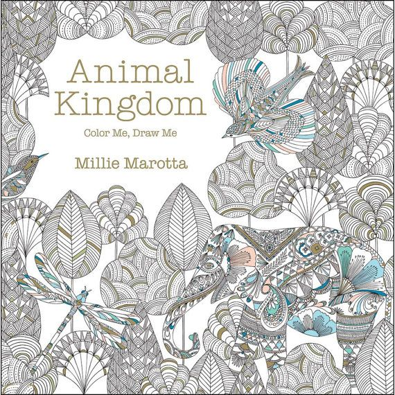 Animal Kingdom Color Me Draw Coloring Book Lark By Iluvdesign