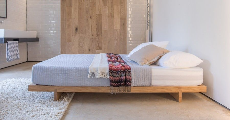 Low Fuji Attic Platform Bed No Headboard Lozko Meble Platforma