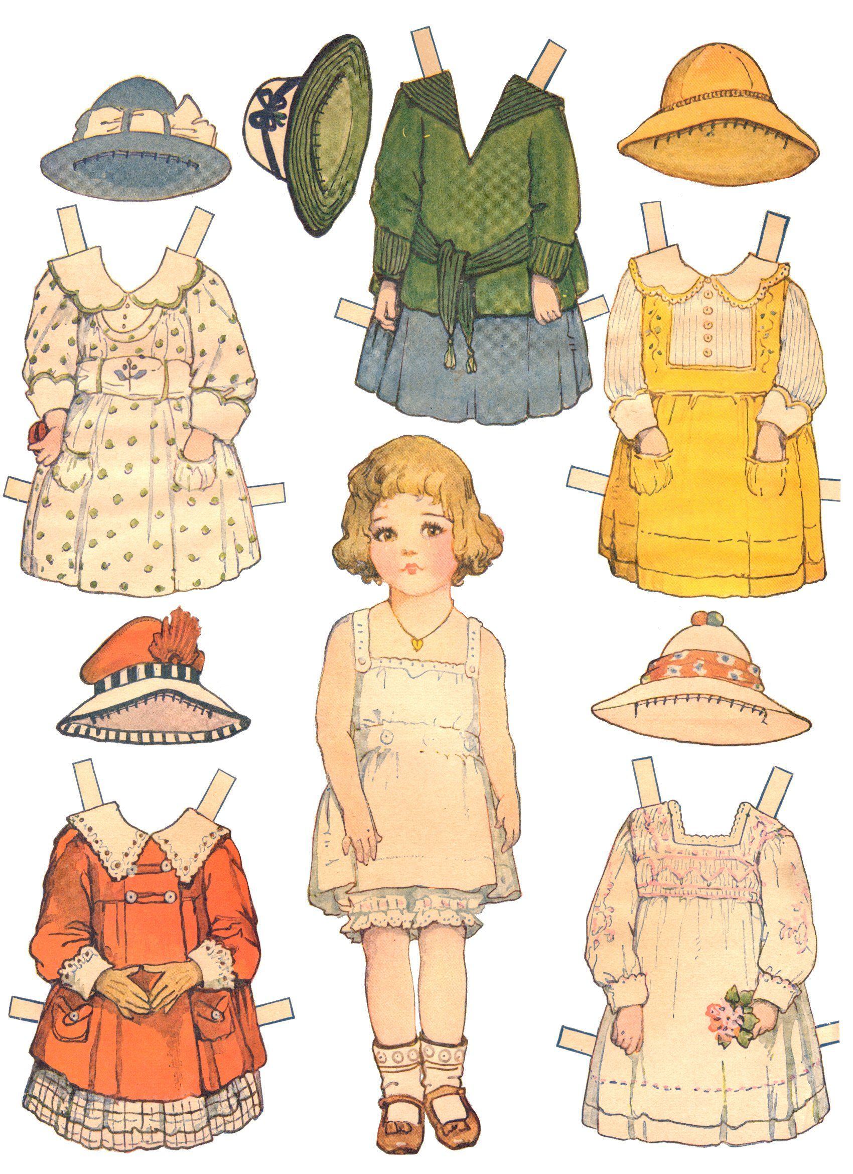 Paper Dolls And Paper Doll Dresses Printable From Kid Fun Vintage Paper Dolls Paper Dolls Paper Dolls Printable