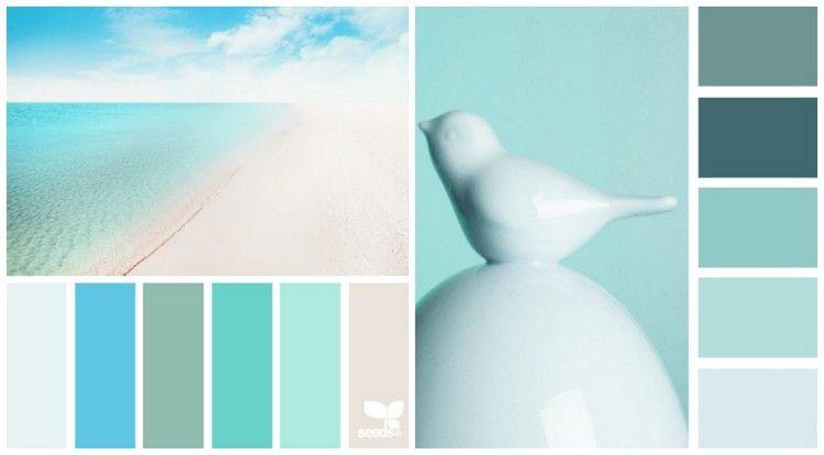farbpallette mit salbeigr n mintgr n und himmelblau farben pinterest mintgr n himmelblau. Black Bedroom Furniture Sets. Home Design Ideas