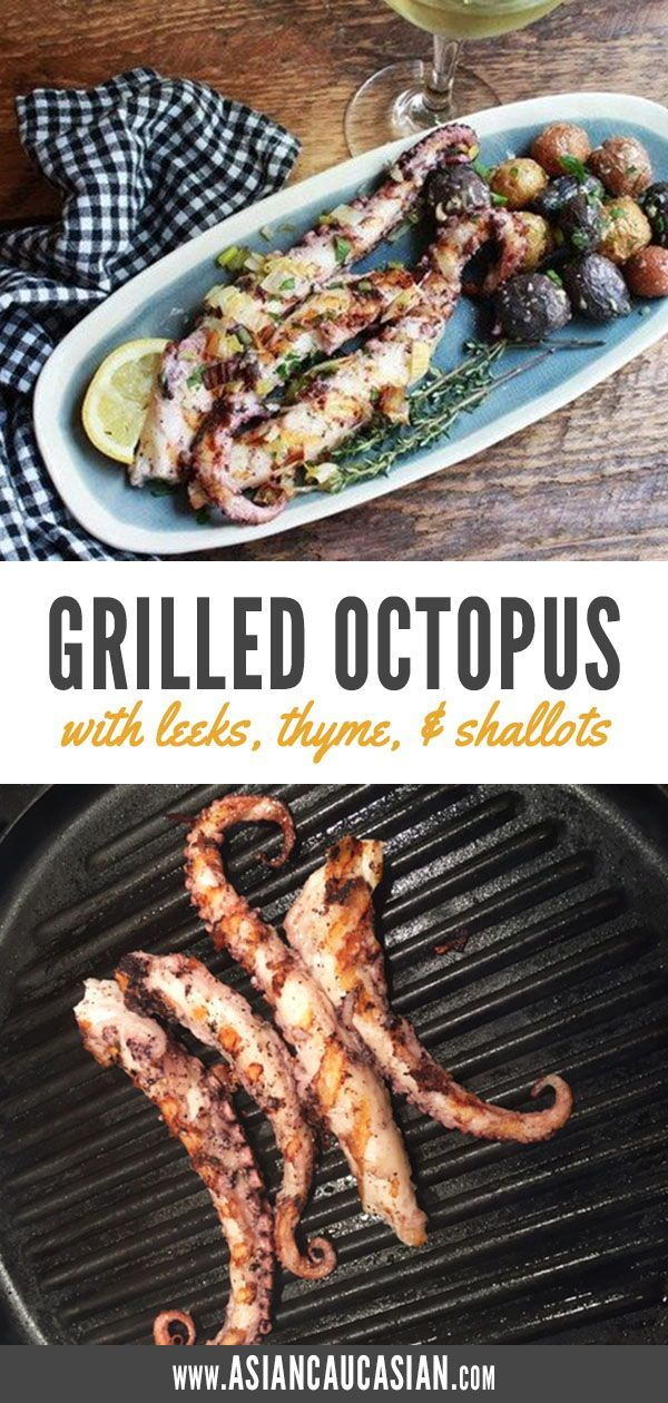 Photo of Grilled Octopus with Leeks, Thyme