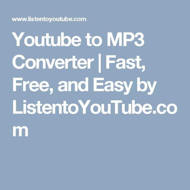 youtube to mp3 converter fast free and easy by listentoyoutube