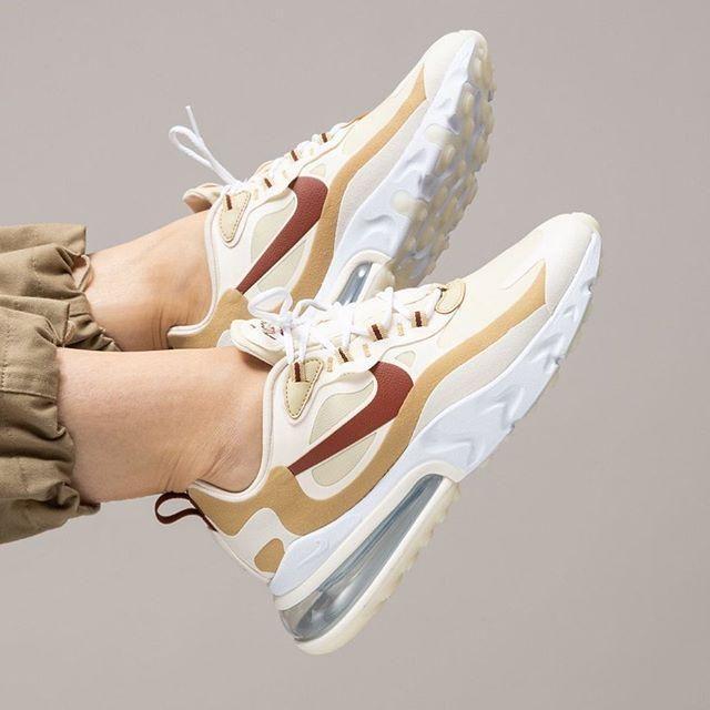 toque terminado otoño  Nike beige Air Max 270 React sneakers | Nike air shoes, Nike air max, Hype  shoes
