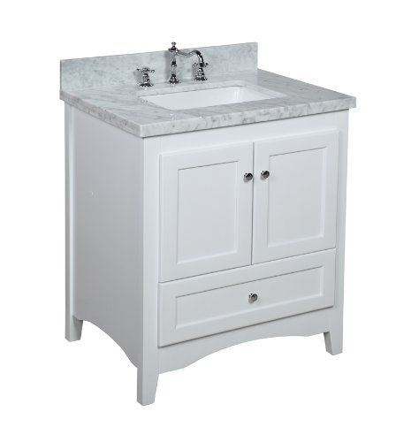 Abbey 30Inch White Bathroom Vanity Carrerawhite Includes A Impressive Bathroom Vanity 30 Inch Design Inspiration