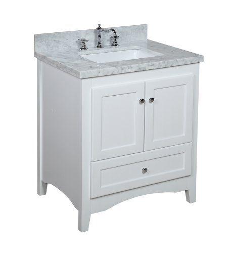 Abbey 30Inch White Bathroom Vanity Carrerawhite Includes A Impressive Bathroom Vanity 30 Inch Design Inspiration