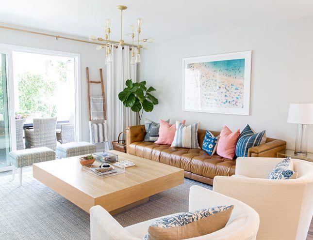 12 Tips To Mastering Boho Beachy Home Decor Tan Leather Sofas Home Decor Interior