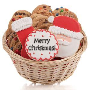 Cookie christmas gift basket christmas gifts gift and basket ideas santas cookie christmas gift basket negle Image collections