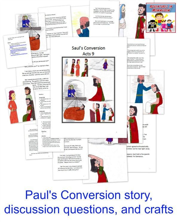 Paul's Conversion Sunday School lesson | Christian Based Preschool