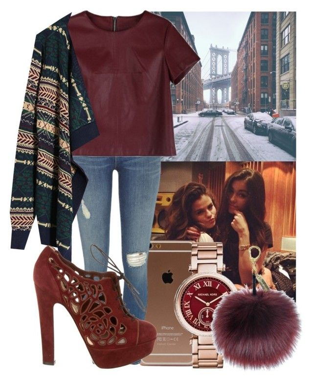 """""""Santa tell me if you really there!"""" by my-big-brown-eyes ❤ liked on Polyvore featuring Justin Bieber, River Island, Valentino, Michael Kors, Winter and look"""