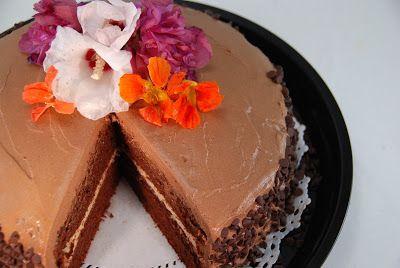 Paleo Rebel chocolate banana flour cake with mocha coffee buttercream frosting