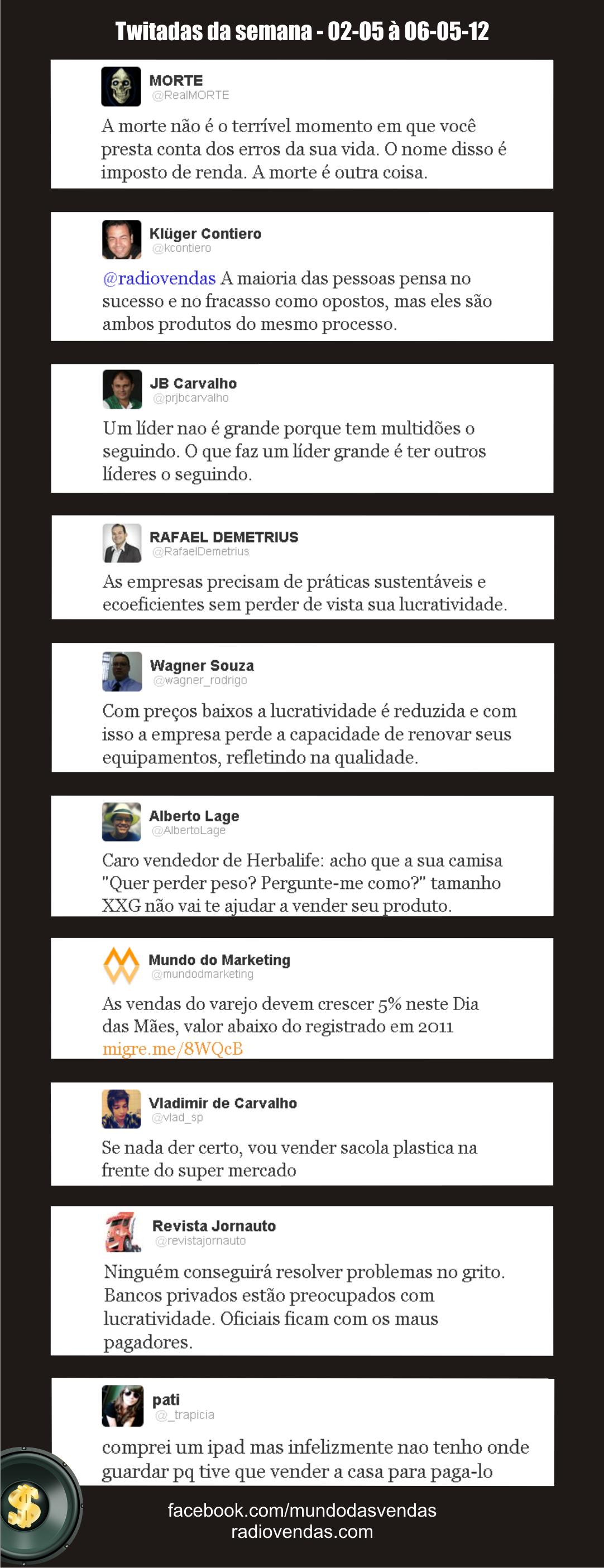 Melhores tweets de negócios! de 02-05 à 06-05-12