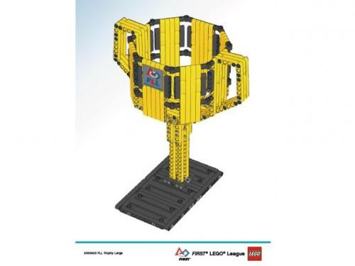 Lego Set 2000423 1 Fll Trophy Large Building Instructions And