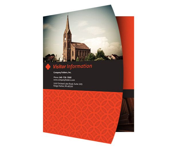 free psd template] happy church visitor folder packet & business, Presentation templates