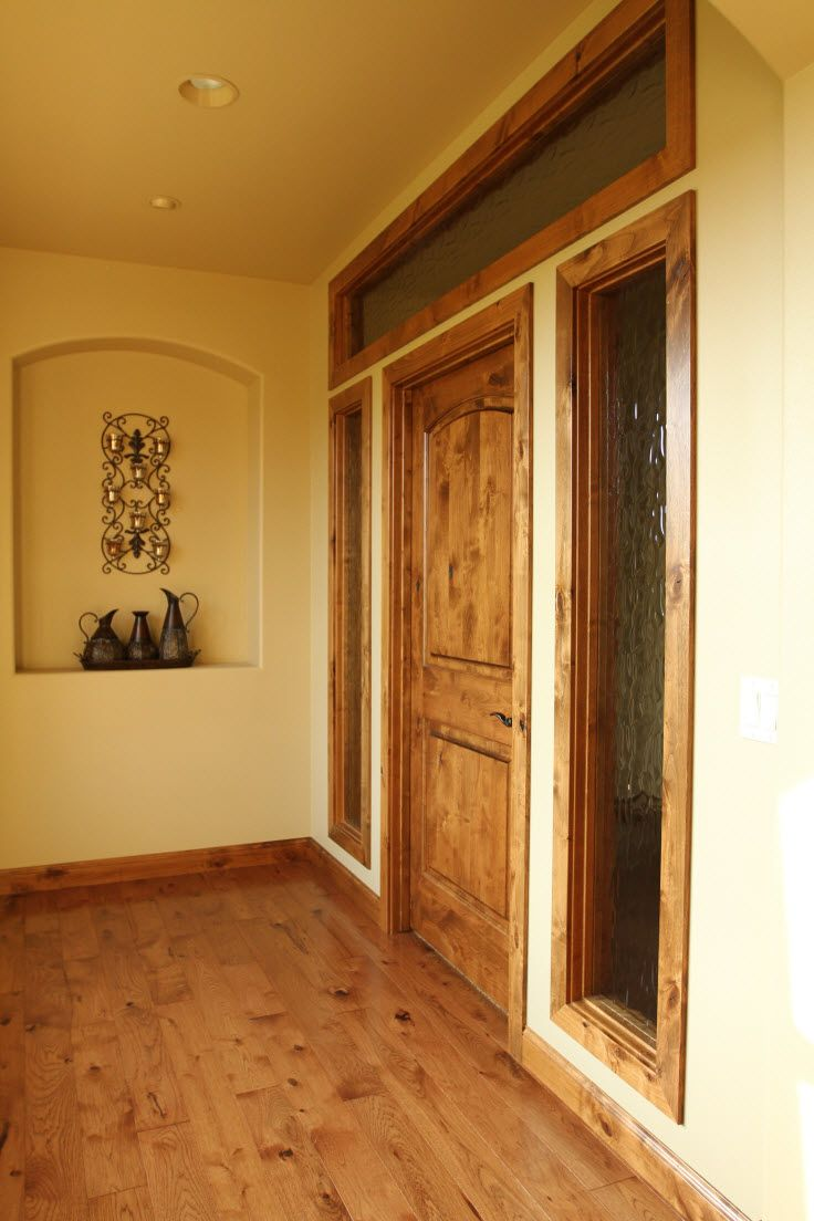 Interior Doors Entrance To Master Suite With A Knotty Alder Door Sidelites And Transom Obscure Gl Bayer Built Woodworks
