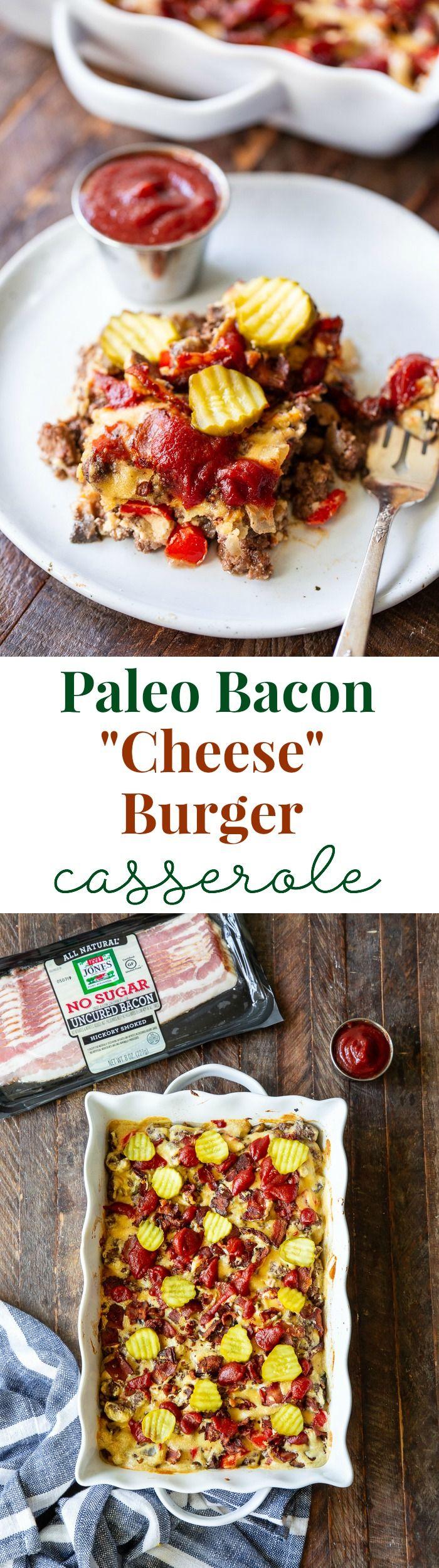 Bacon Cheeseburger Casserole Paleo No Added Sugar Recipe Bacon Cheeseburger Casserole Paleo Comfort Food Recipes Casseroles