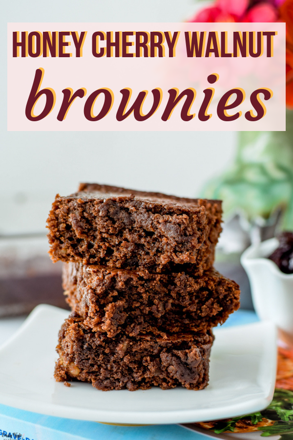 Cherry Walnut Brownies These Honey Cherry Walnut Brownies, inspired byThe 30-Minute Mediterranean Diet Cookbook,are a decadent, gluten-free treat that is bursting with flavor and nutrition from delicious sweet cherries and hearty walnuts for a new twist on a classic favorite. via @emkylenutritionThese Hon...