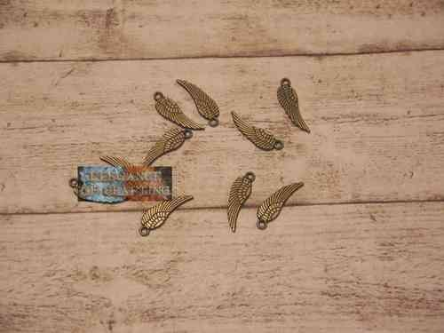 Charm Charms Feder Feather Bronze