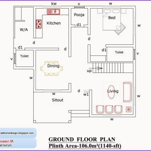 Photo of 1000 Sq Ft House Plans 2 Bedroom Indian Style Best Of Nadumuttam and Poomukham K…