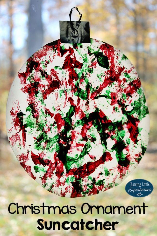 How To Paint A Christmas Ornament Suncatcher - Kid Blogger Network
