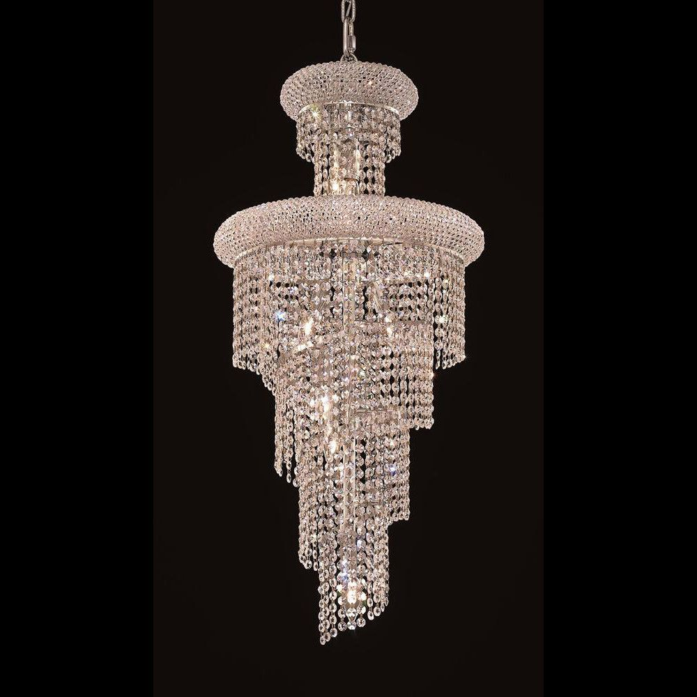 Charmant Elegant Lighting Spiral Collection Dining Room Hanging Fixture X Chrome  Finish (Elegant Cut Crystals)   Mega Supply Store