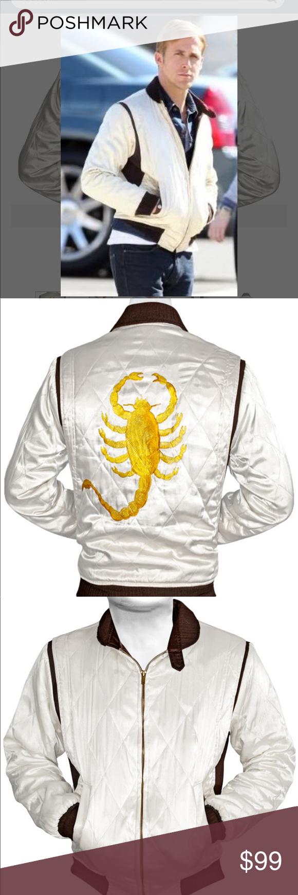 Ryan Gosling White Drive Scorpio Jacket New Xs Jackets Clothes Design Ryan Gosling [ 1740 x 580 Pixel ]