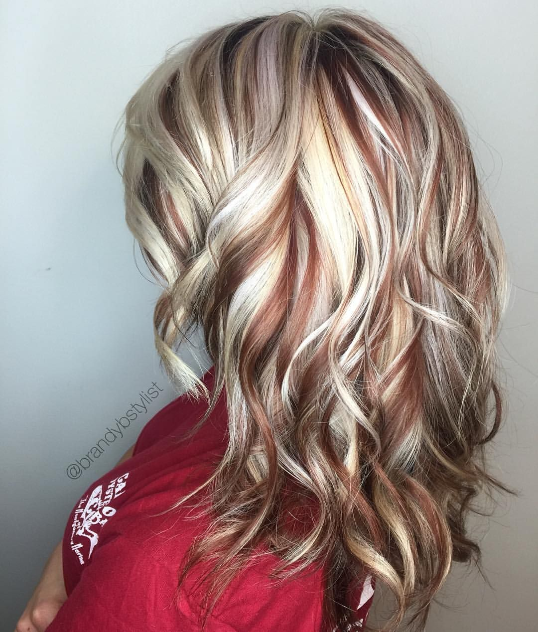 Blonde And Red Highlights Highlights Lowlights