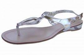 9a7704443568 Silver Diamante Gladiator Sandals