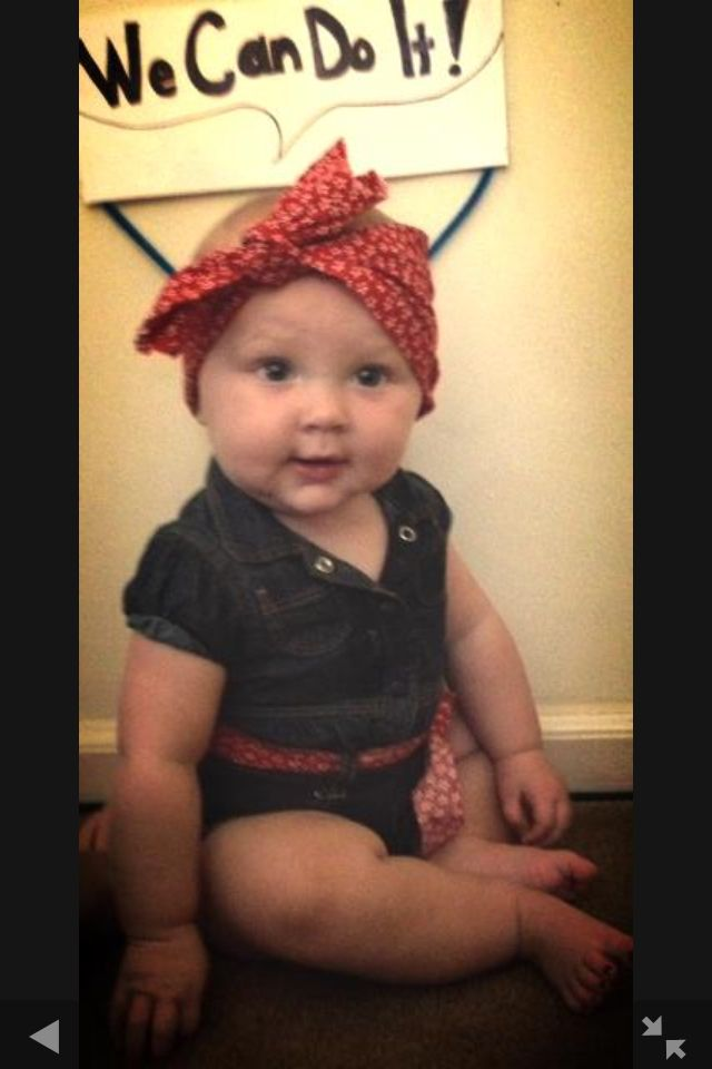 Rosie the riveter baby girl costume   baby in 2019   Diy